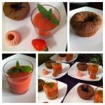 Mein perfekter Nachtisch: Erdbeer, Rhabarber und Schokoladenküchlein
