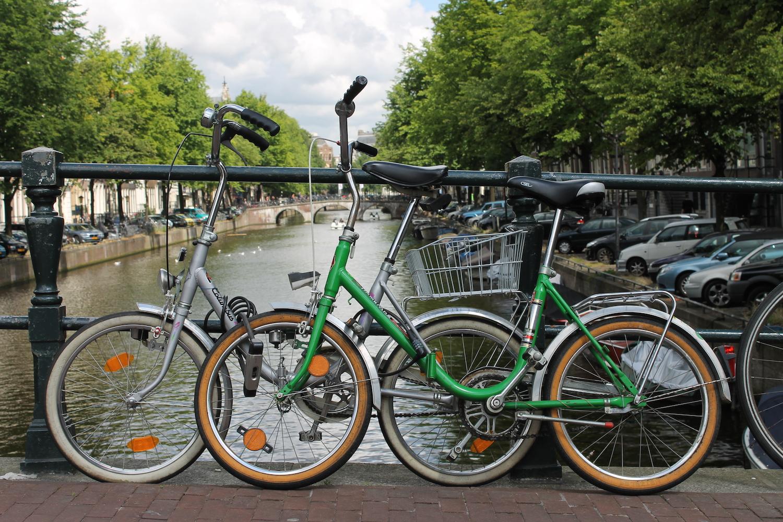 Unsere Klappräder in Amsterdam