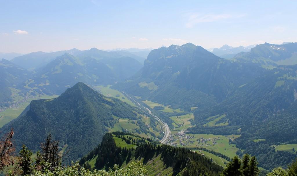 Ausblick von der Hangspitze im Bregenzerwald