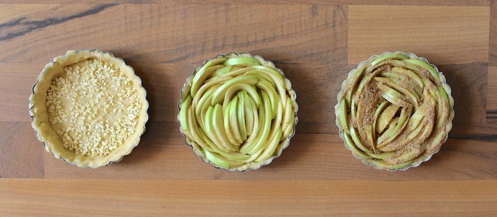 Drei Apfelkuchen