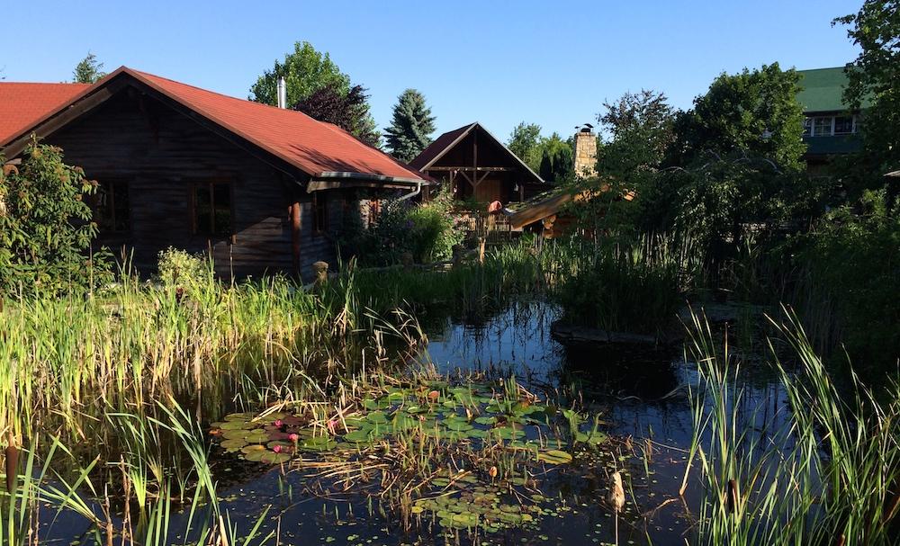 Spa Garten mit Teich