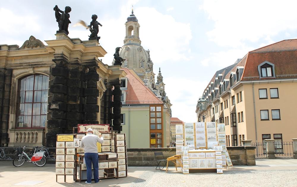 Straßenkunst in Dresden
