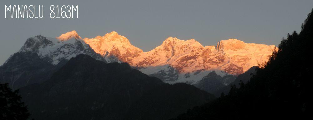 Sonnenuntergang über dem Himalaya
