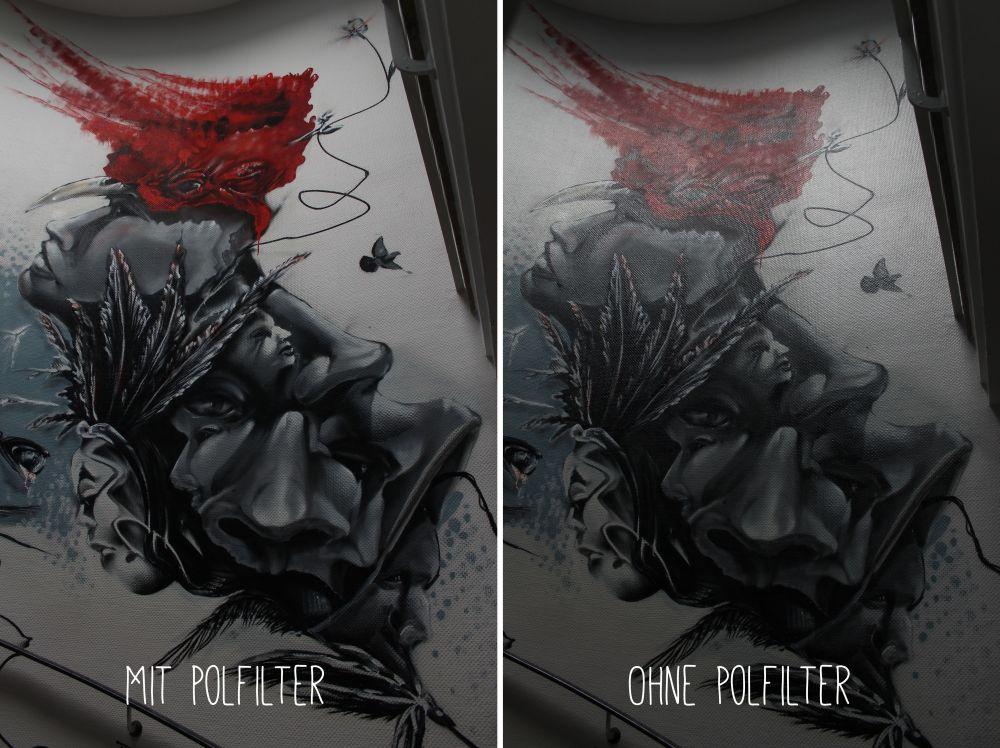 Graffiti mit Polfilter
