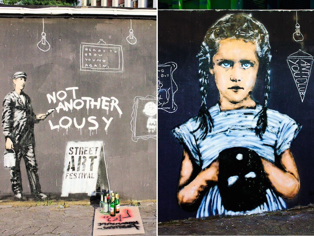 Street Art in der Stadtmitte Düsseldorf