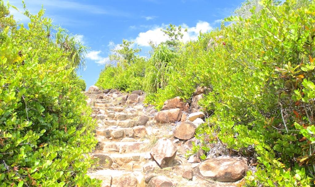 Wanderweg auf der Insel