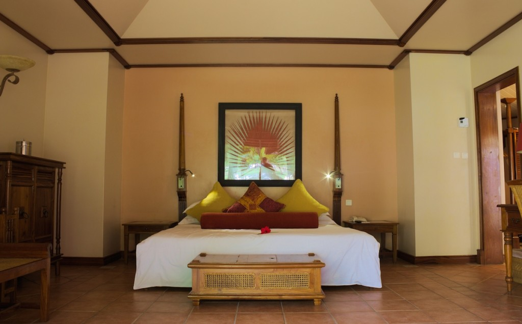 Schlafzimmer unserer Villa
