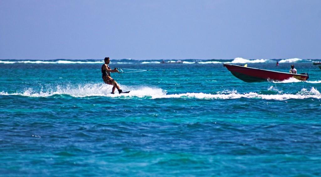 Wasserski auf Mauritius
