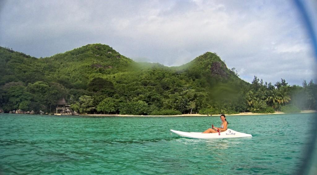 Kajak vor der Insel