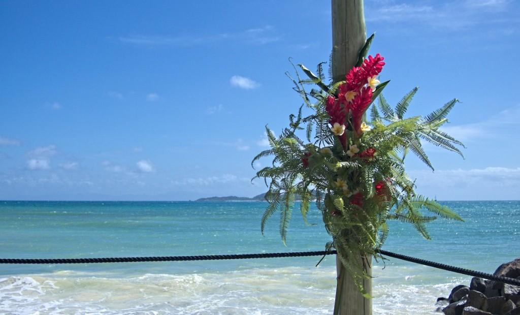 Hochzeitsdeko auf den Seychellen