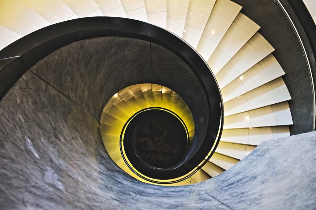 Treppe im Radisson Blu Hamburg
