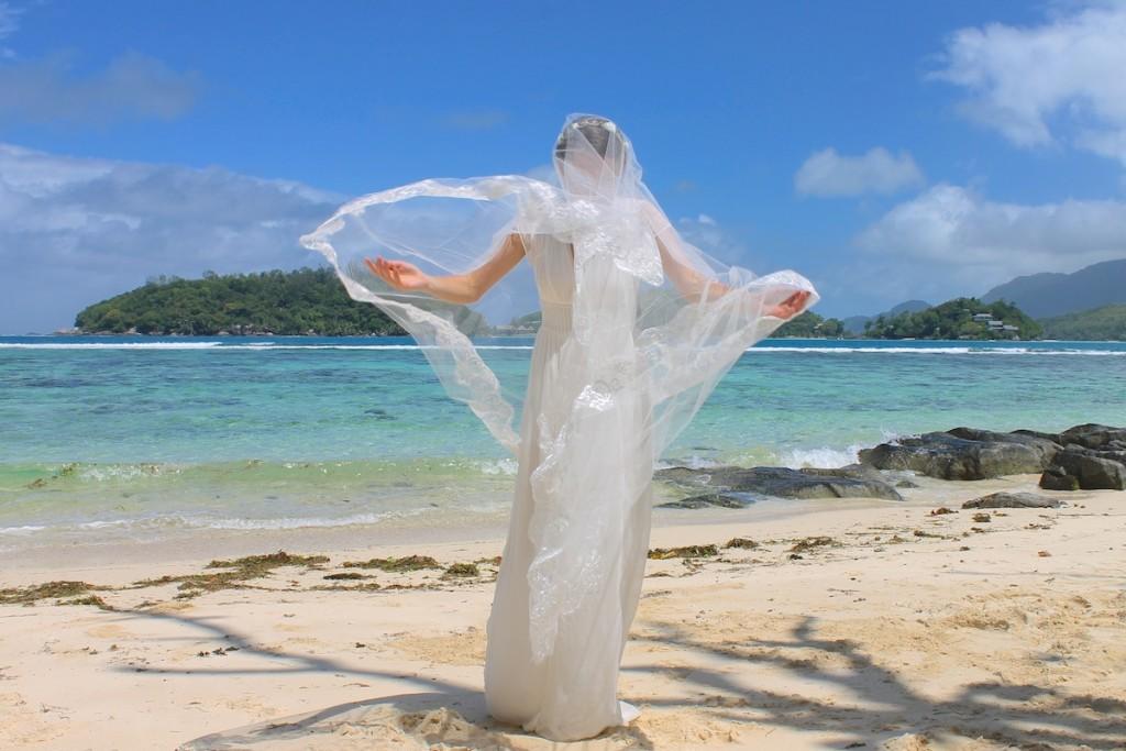 Hochzeitsschleier für die Strandhochzeit