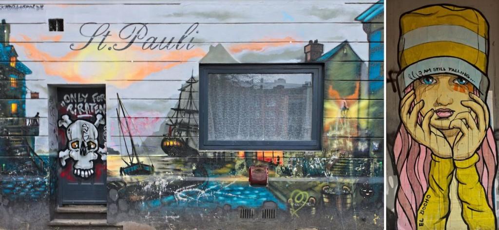 Street Art in St. Pauli in Hamburg