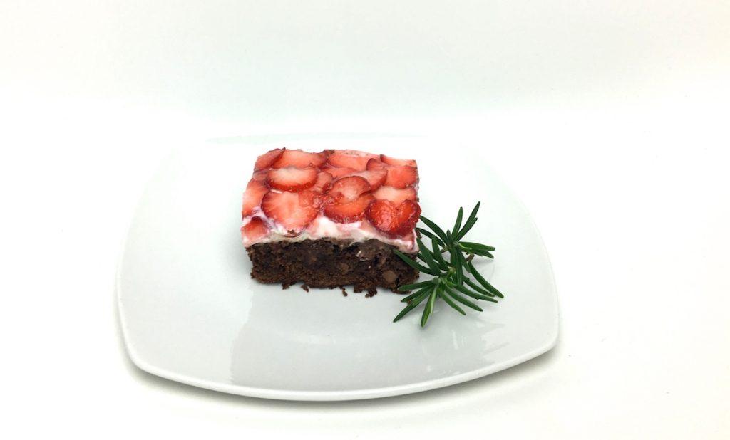 Erdbeer-Brownies-Kuchen-Rezept