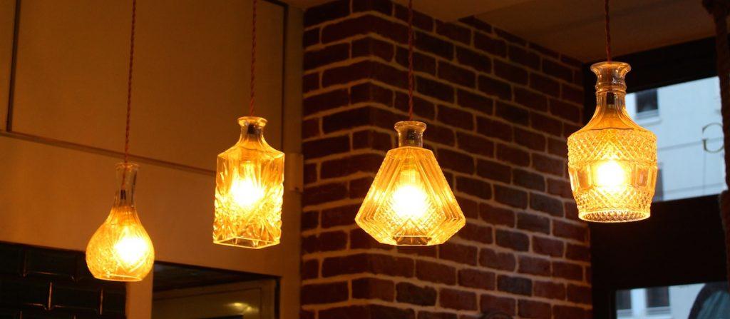 Lampen im Barber Shop
