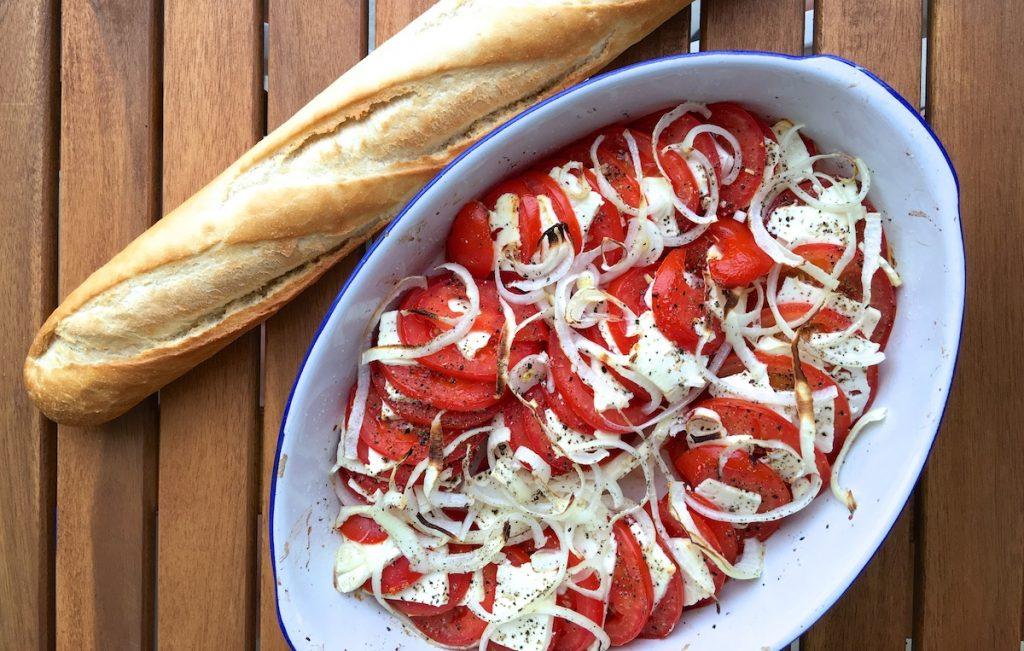 Sommergerichte mit Tomaten