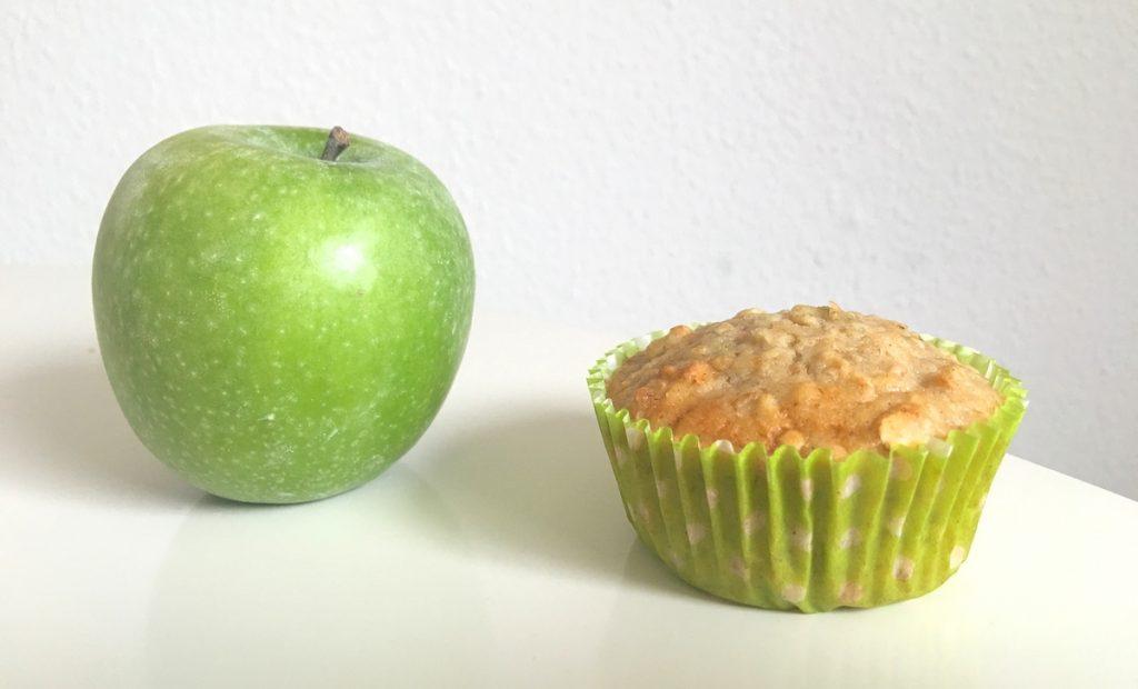 Rezept für Apfel-Haferflocken-Muffins