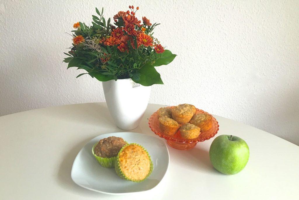 Apfel-Haferflocken-Muffins backen