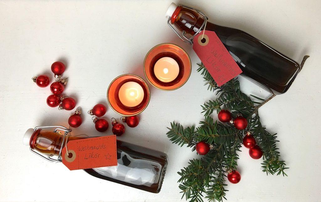 Weihnachtslikör als DIY Weihnachtsgeschenk