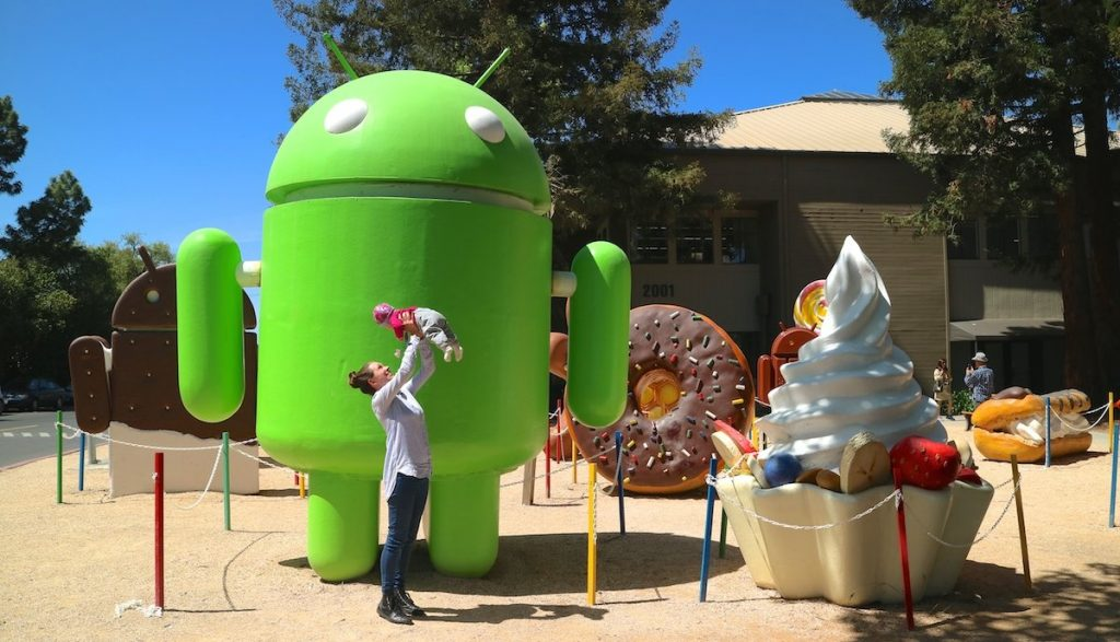 Android Lawn statues im Silicon Valley