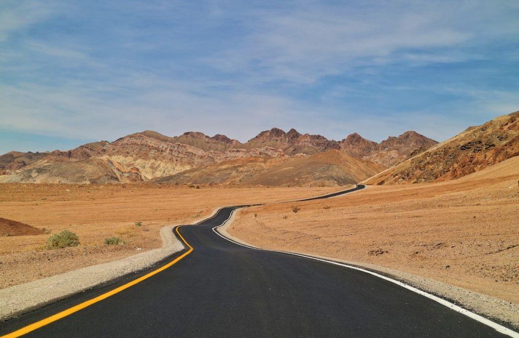 Mit dem Mietwagen im Death Valley
