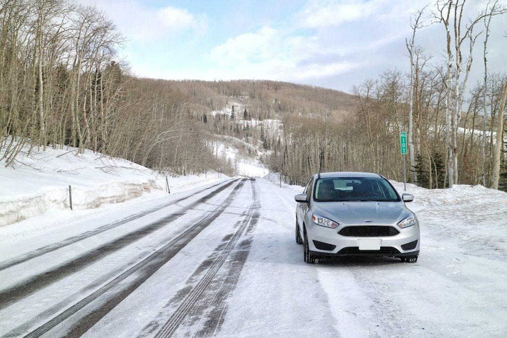Mietwagen im Schnee in den USA