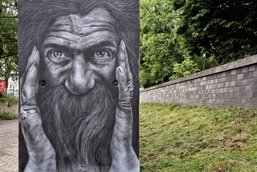 Street Art in Krefeld Portrait