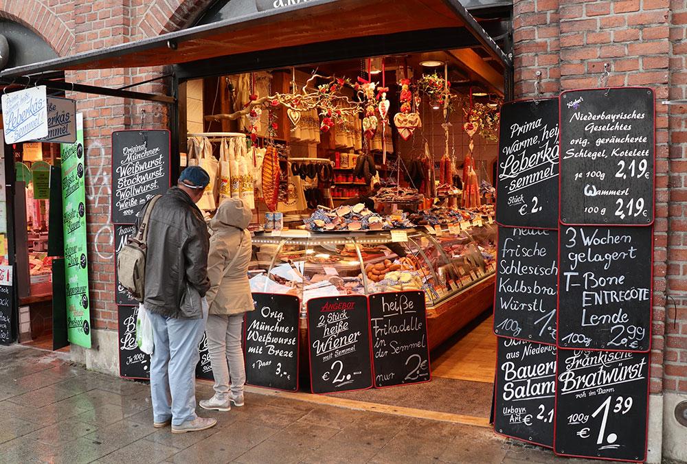 München zu Fuß erkunden Viktualienmarkt