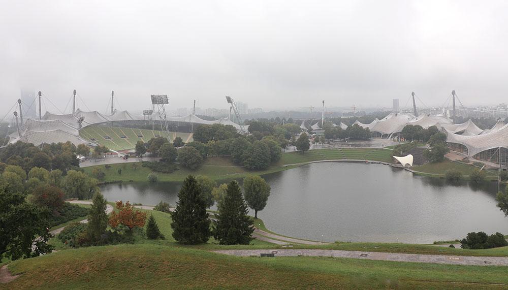 München zu Fuß erkunden Olympiapark
