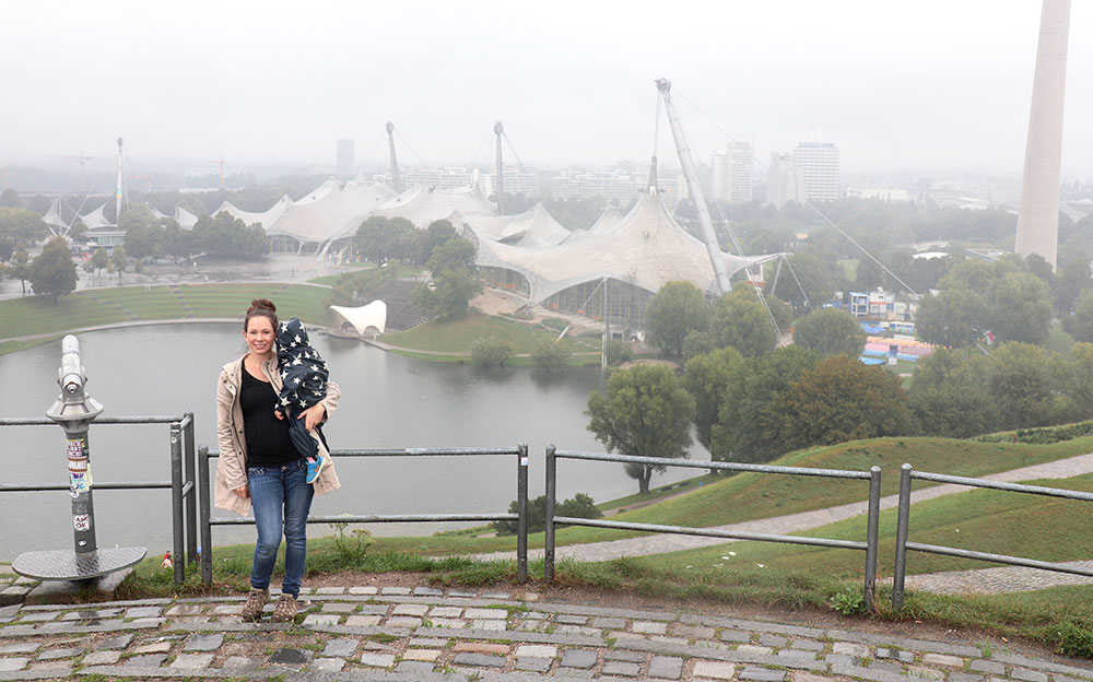 München zu Fuß erkunden Olympiaberg