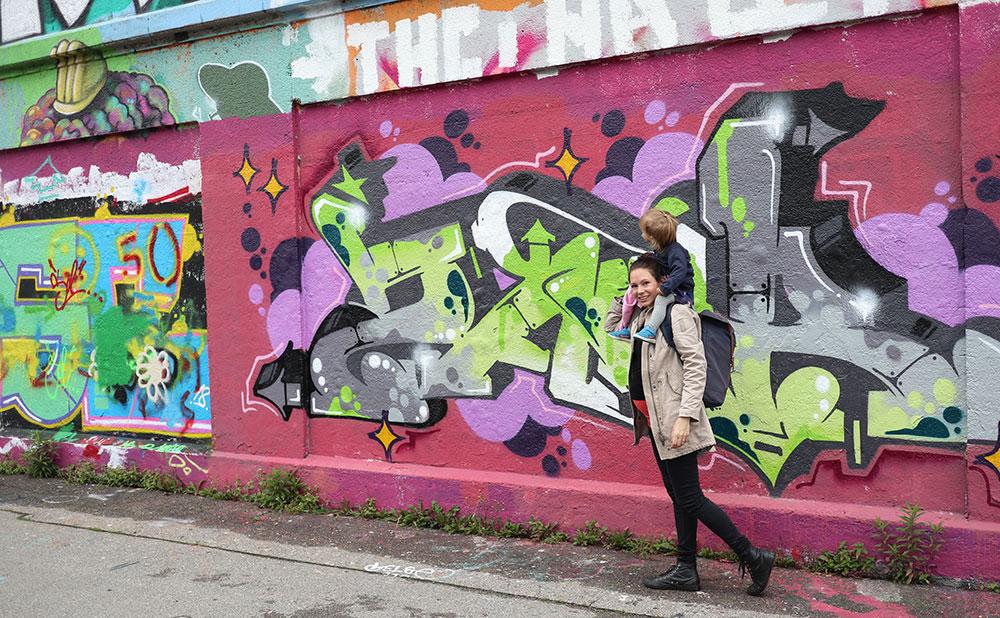 München zu Fuß erkunden Street Art