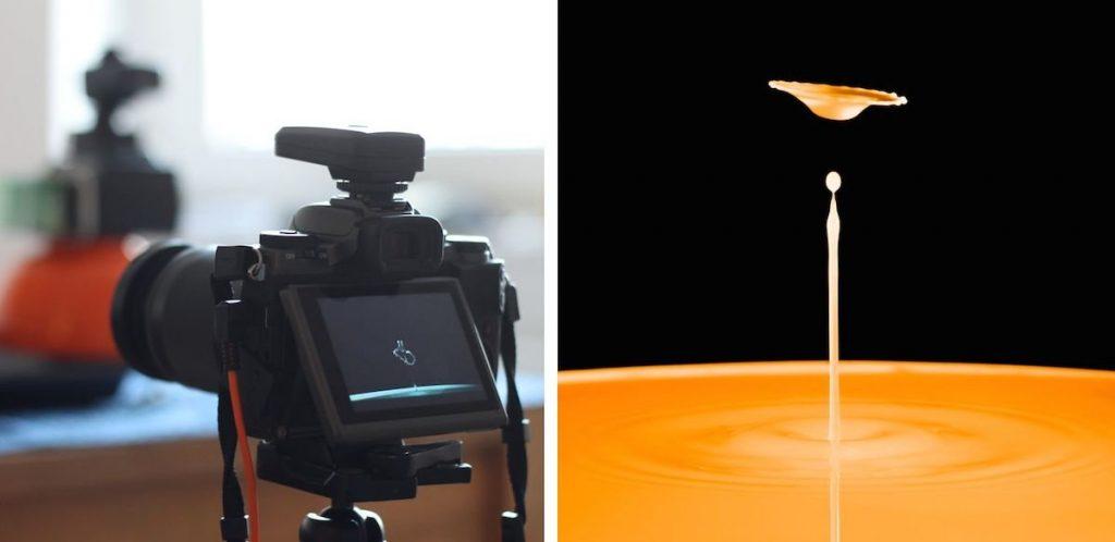 Tropfenfotografie Kamera
