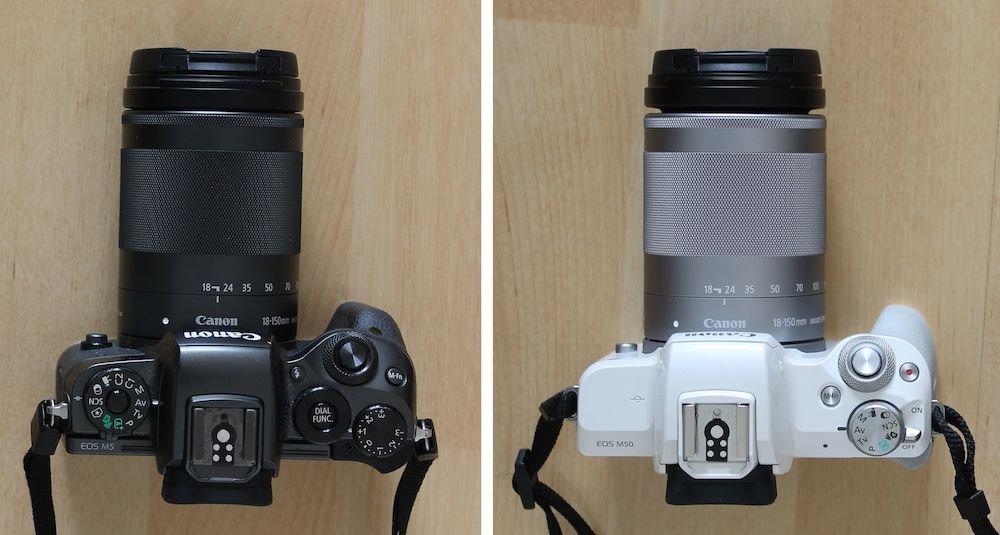 Canon EOS M5 oder Canon EOS M50 Unterschiede