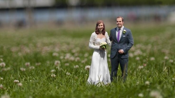 Individuelle Hochzeits-Figuren // 3D Druck