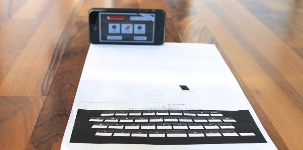 APPlaus Papier Tastatur