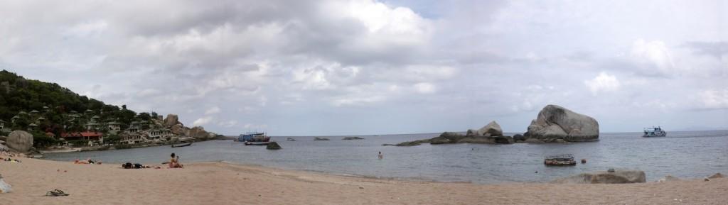 Panorama von Koh Tao mit Strand und Meer