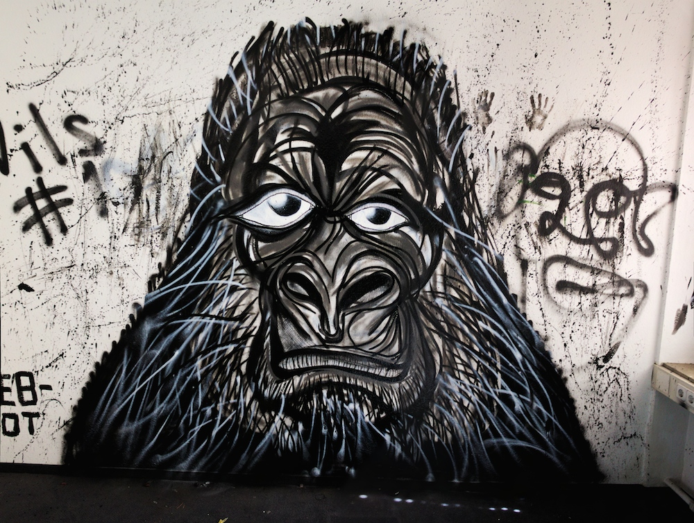 Graffiti Affe
