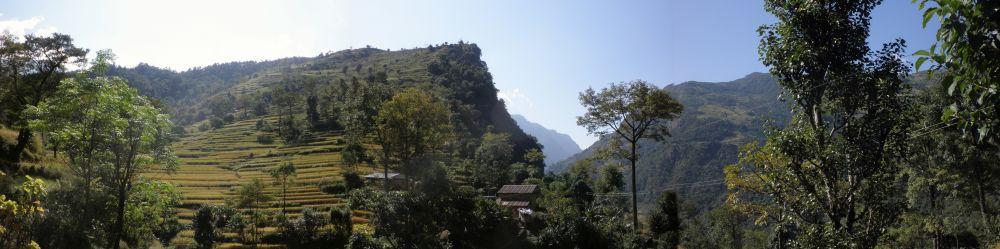 Nepal-Tracking Himalaya Panorama