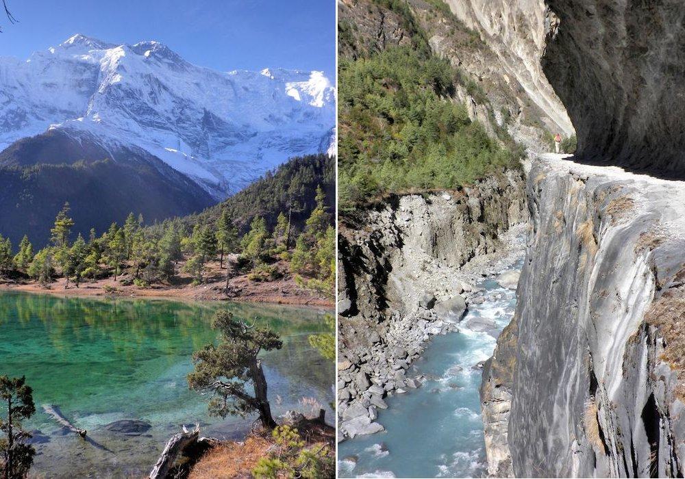 Natur beim Wandern in Nepal