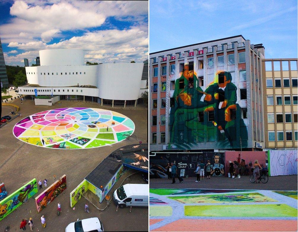 Street Art auf Gebäude