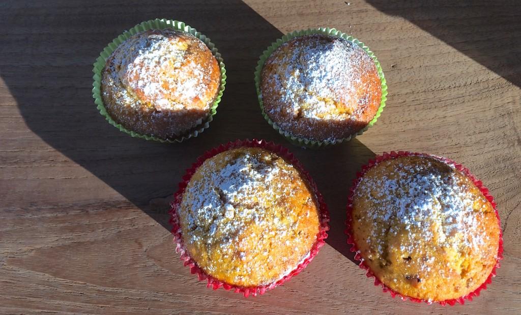Muffins mit Puderzucker