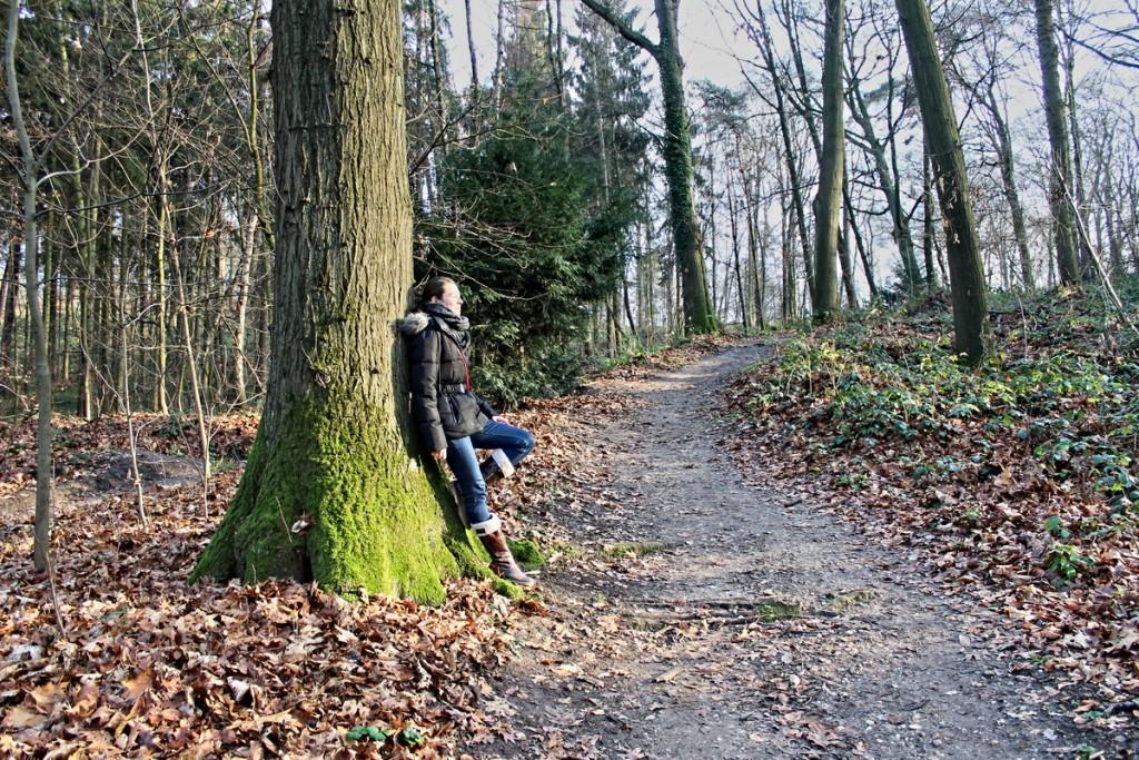 Pause beim Wandern im Wald
