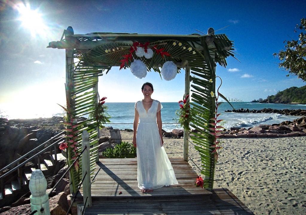 Unser Hochzeits Pavillon am Strand