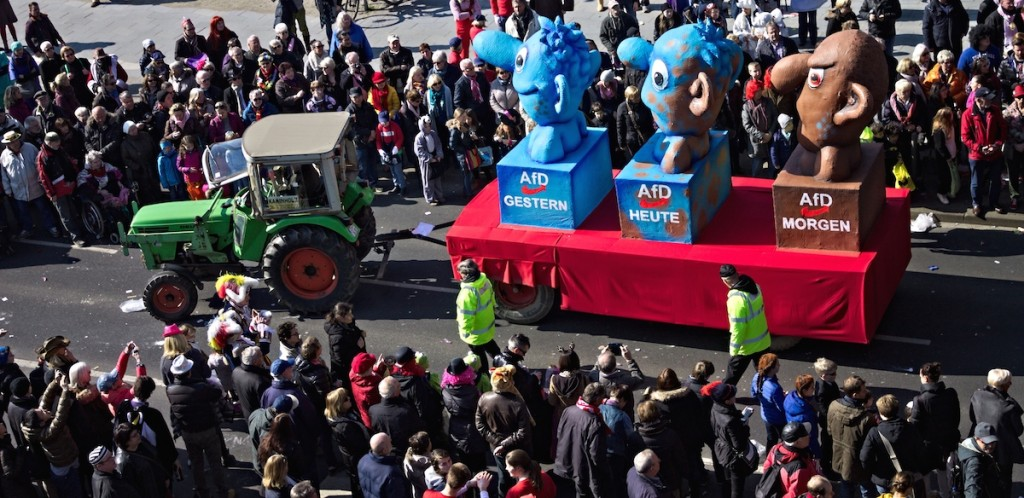 Politischer Karnevals Wagen