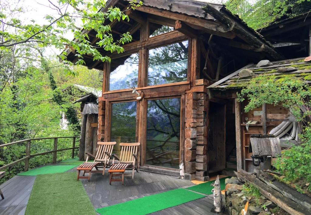 Sauna Hütte in Südtriol