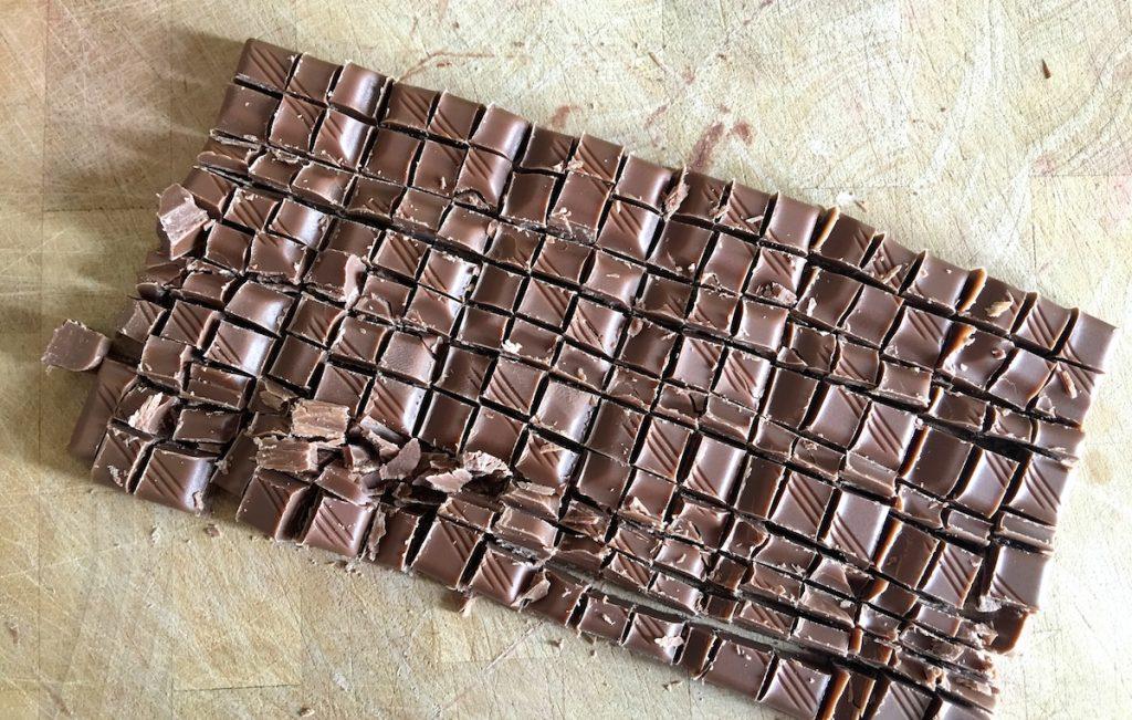 Schokolade für die Brownies
