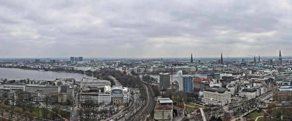 Ausblick über Hamburg