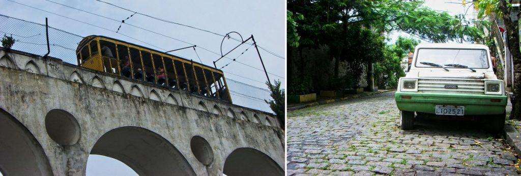 Alte Straßenbahn in Rio