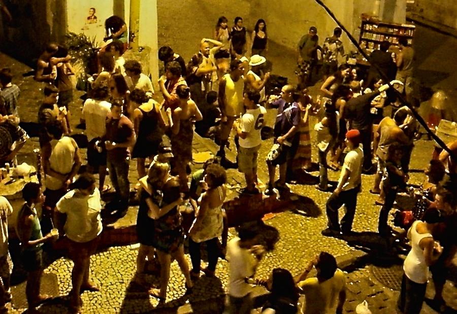 Straßenleben in Rio