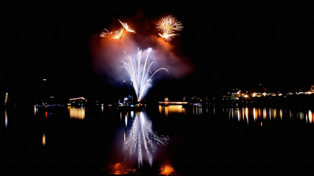 Rursee in Flammen